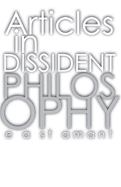 Articles In Dissident Philosophy